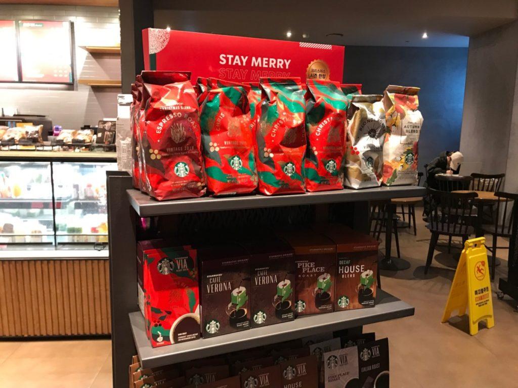韓国スターバックスクリスマス2018