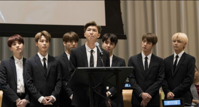 UN speech BTS